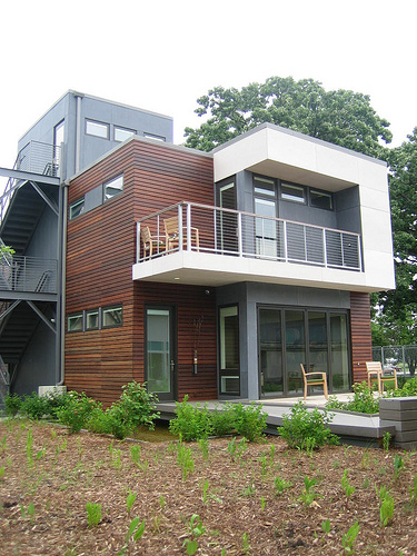 A prefab modular home. Flickr photo from Heather Lucille. CC.