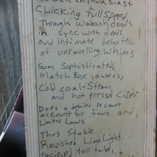 """Poetry found on the side of a """"suggestions"""" box, in a West Side co-living warehouse."""