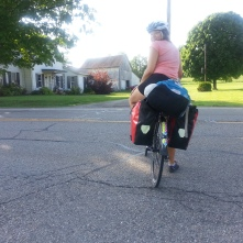 Ohio bike touring partner Laurenne departs to crash with a Warm Showers host.